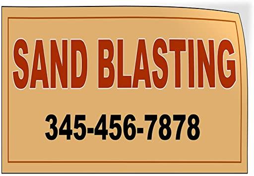 Custom Door Decals Vinyl Stickers Multiple Sizes Sand Blasting Phone Number Green Business Sand Blasting Outdoor Luggage /& Bumper Stickers for Cars Green 14X10Inches Set of 10