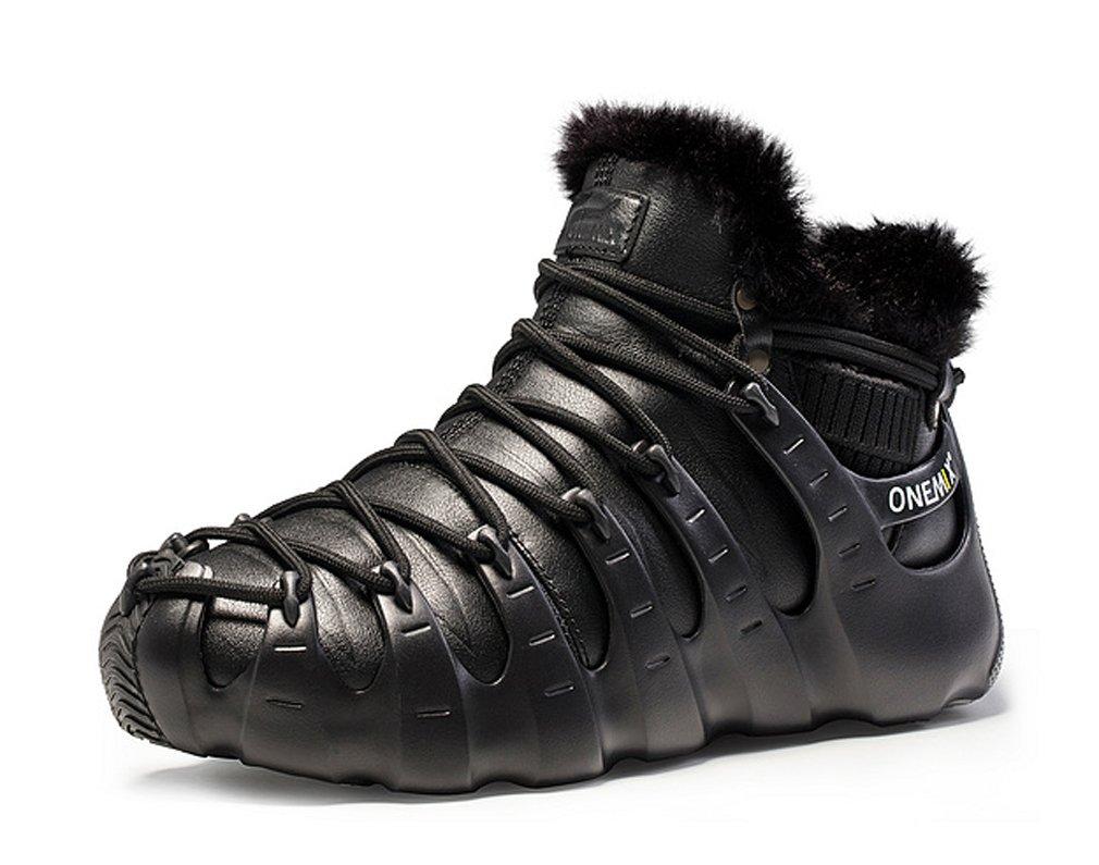 ONEMIX Botas de Nieve de Material Sintético Adultos Unisex 36 1/3 EU|All Black