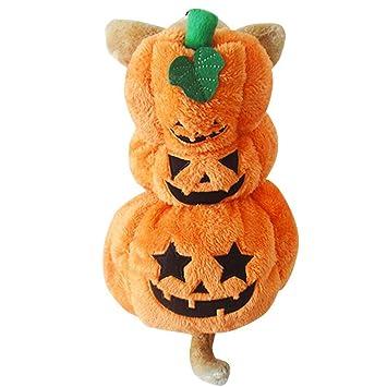 Disfraz de Halloween Perro Gato Calabaza Ropa de Mascotas de ...