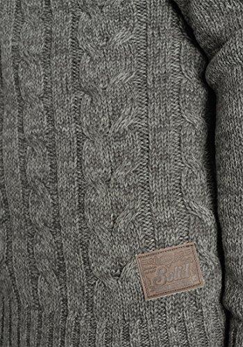 Homme Pierre Grosse À Capuche over Maille 2890 Pour Grey 100 Pull Tricot Pull En Solid Dark Coton pdPpq