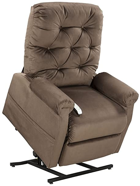 Enjoyable Mega Motion Lift Chair Easy Comfort Recliner Lc 200 3 Position Rising Electric Power Chaise Lounger Chocolate Brown Color Fabric Short Links Chair Design For Home Short Linksinfo