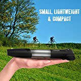 Mini Bike Pump Portable: Presta and Schrader: Road, Mountain, and BMX Hand Pumper with Mounting Bracket, Sports Needle, and LED Bike Light 120 PSI By Genius Pump