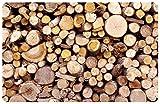 K&A Company Photo Mat - Firewood, 66'' x .5'' x 46'' x 14 lbs, Area - 66 W x 46 D