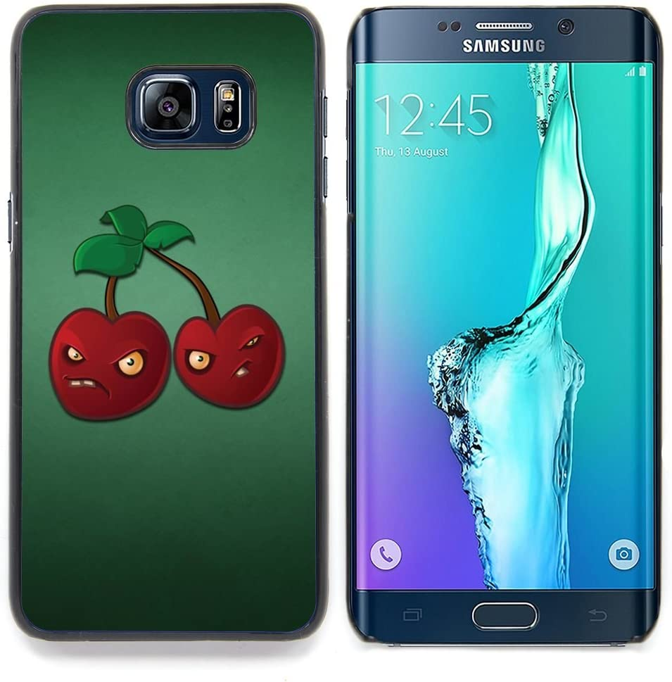 Angry Grumpy Cherries Red Berries Healthy Food Designed Hard Plastic Protective Case King Case For Samsung Galaxy S6 Edge Plus