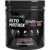 Keto Matrix Keto Supplement - Exogenous Ketones - Keto BHB Salts + MCT Oil Powder - Beta Hydroxybutyrate + C8 & C10 - Formulated by Dr. John Limansky MD, The Keto Dr™
