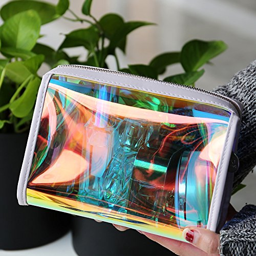 Andear Women's PVC Clear Hologram Transparent Clutch MakeUp Purse Bag for Girls by Andear (Image #2)