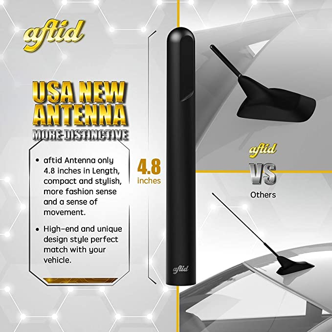 TEKK Short Antenna Compatible with Nissan Frontier 1998-2019 4.8 Inches Designed for Optimized FM//AM Reception
