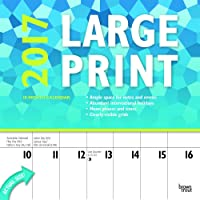 Large Print 2017 Square 12x12 Wall Calendar