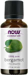 NOW Essential Oils, Bergamot Oil, Sweet Aromatherapy Scent, Cold Pressed, 100% Pure, Vegan, Child Resistant Cap, 1-Ounce