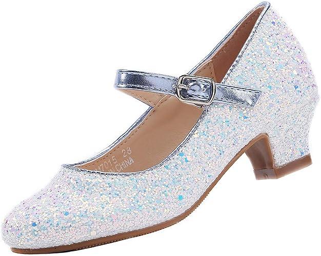 EIGHT KM Ni/ñas Tacones Bajos Mary Jane Vestido Formal Zapatos de sal/ón