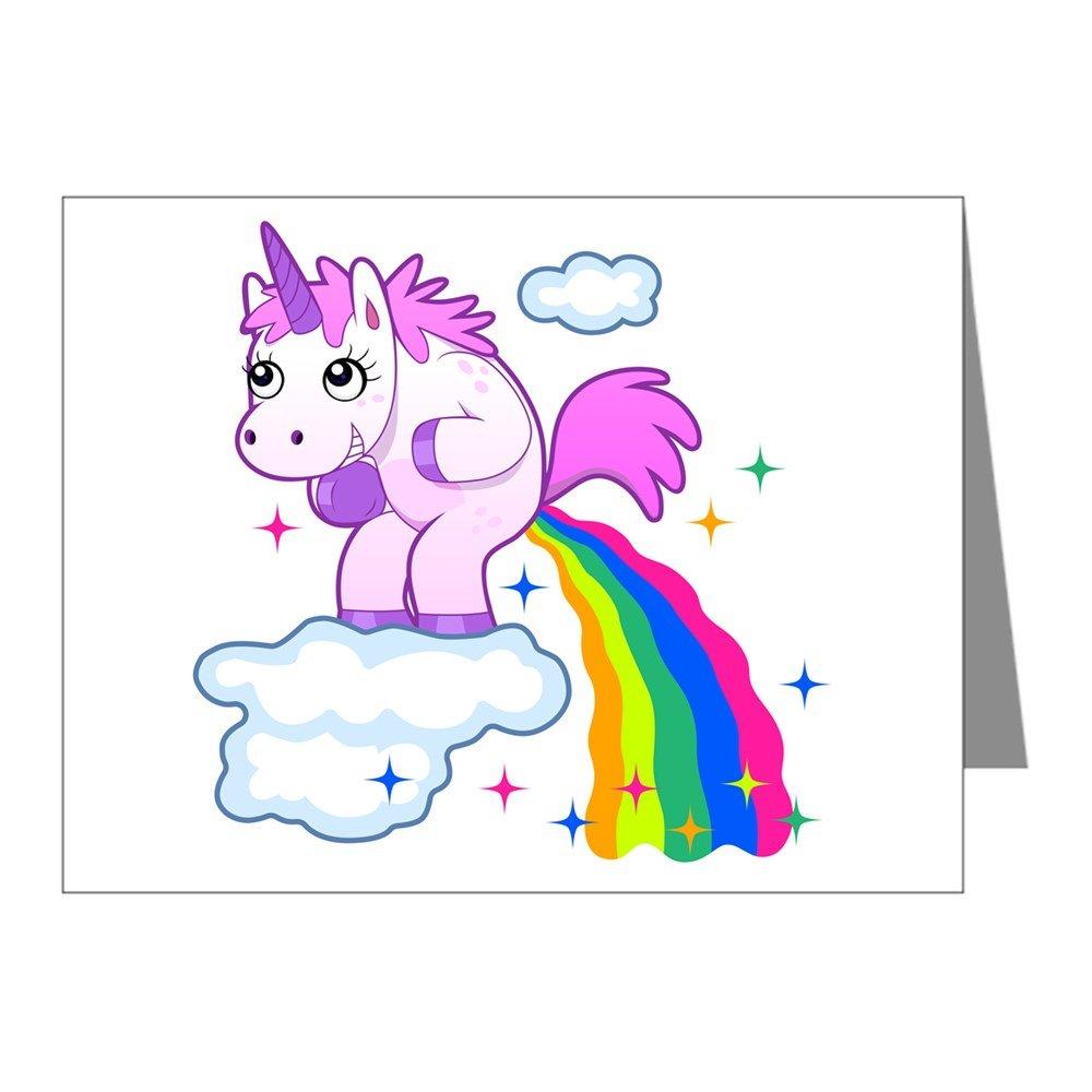 Note Card Unicorn Farting Rainbow