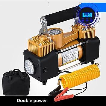 xianw Compresor de Aire portatil Bomba de compresor de Aire,Preset inflador de neumáticos Digital