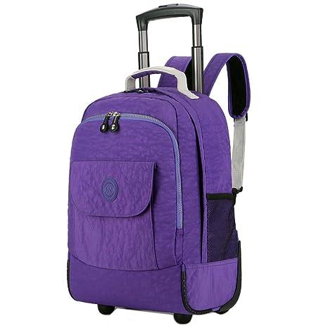 CEQT Rolling Luggage Travel Backpack Hombro Spinner Mochilas Ruedas de Gran Capacidad para Maletas Trolley Carry