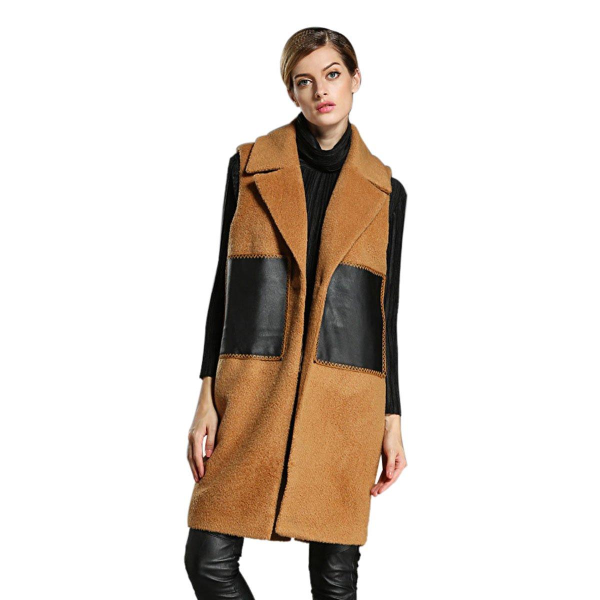 HUASHI Womens Woolen Winter Coat for Maternity, Size 14 by HUASHI