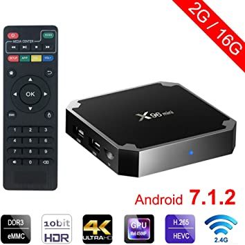 winbuyer x96 Mini Android TV Box Android 7.1 4 K Smart TV Box 64bit Quad Core CPU 2 GB + 16 GB with WIFI: Amazon.es: Electrónica