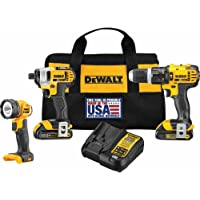 Dewalt 3-Tool 20-Volt Max Lithium Ion Cordless Combo Kit with Soft Case