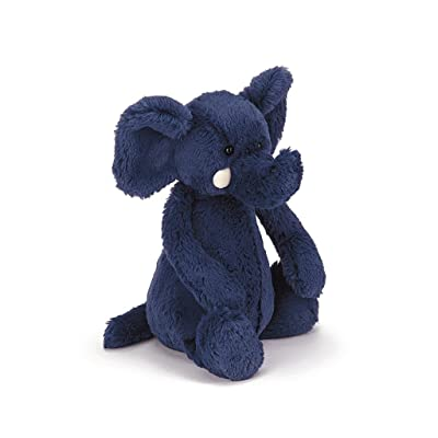 Jellycat Bashful Blue Elephant Stuffed Animal, Medium, 12 inches: Toys & Games
