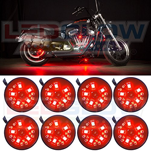 8pc motorcycle led lights - 8