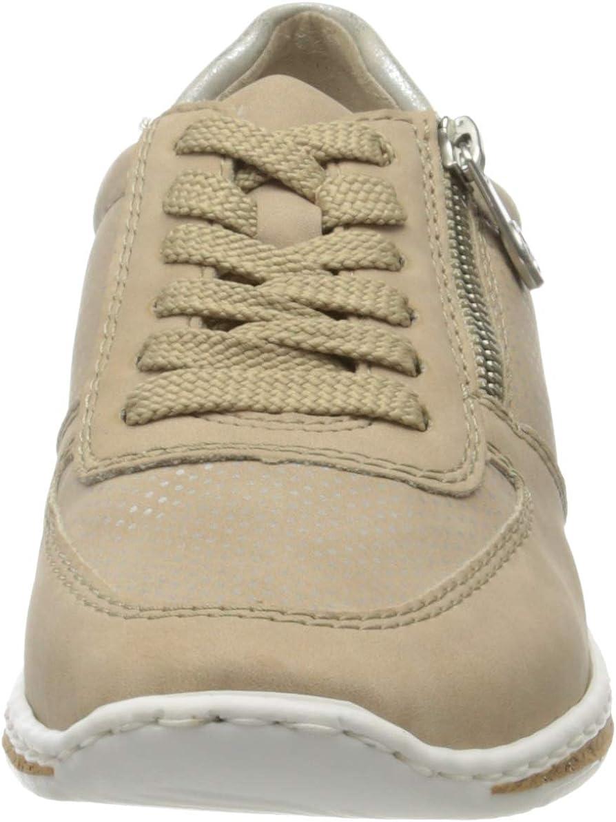 Rieker Women's Low-Top Sneakers Yellow (Nude/Silber/Fog-silver/ 62 62)