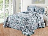 Oversized Quilts for Queen Beds GrandLinen 3-Piece Fine Printed Oversize (100