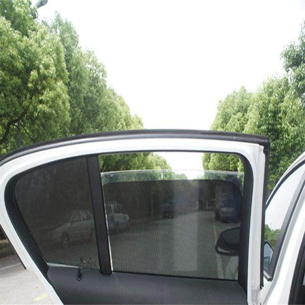 42x38cm DIY Sonnenschirm f/ür Seitenfenster Auto Sonnenschutz Folien PVC mit L/öchern Schwarz ca 2er Set Sonnenblende f/ür Fensterabdeckung
