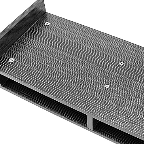 Met Life - Monitor Stand 2 Compartment Organizer Come With Portable Tall Side Stand | Natural Black