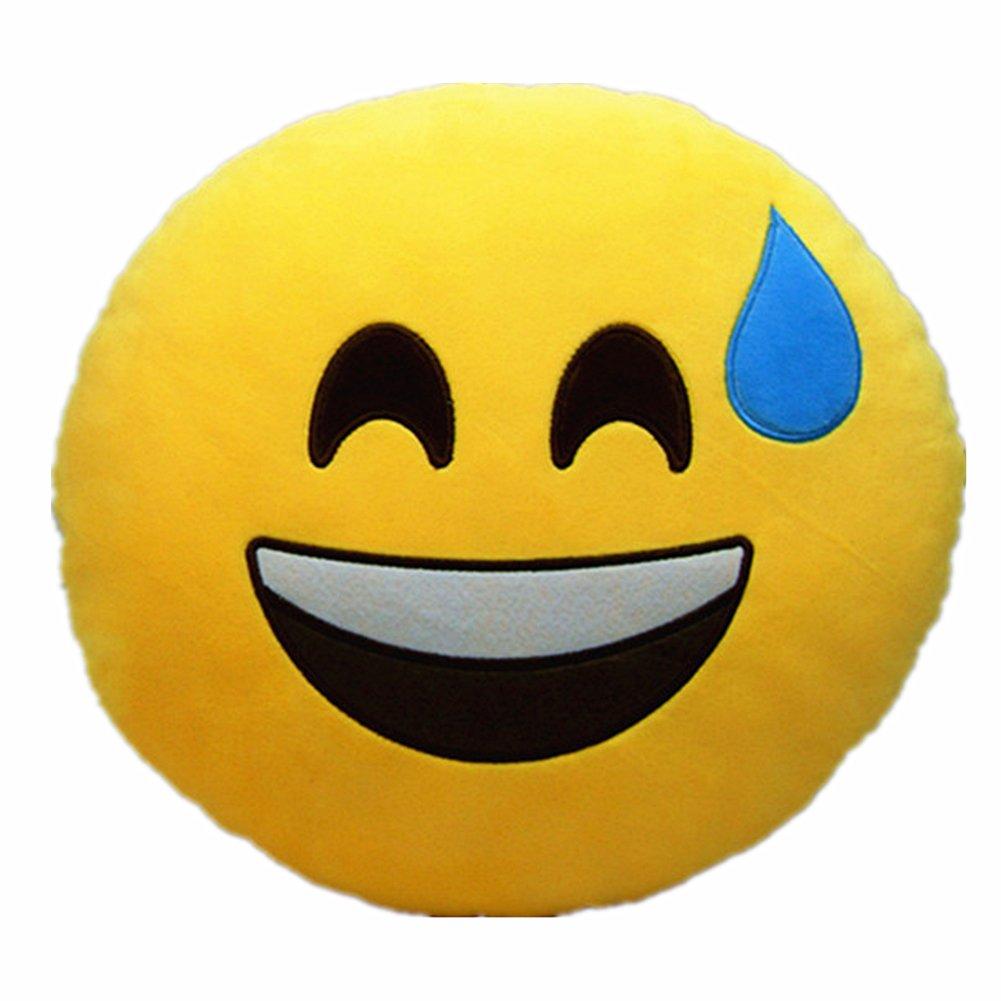 LI&HI Emoji Emoticon almohada Riendo cojín Cojines almohada Presidente Cojín...