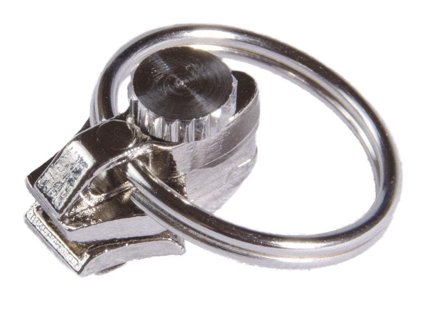 FixnZip Cursore di Ricambio per Cerniere Lampo Piccolo in Nickel