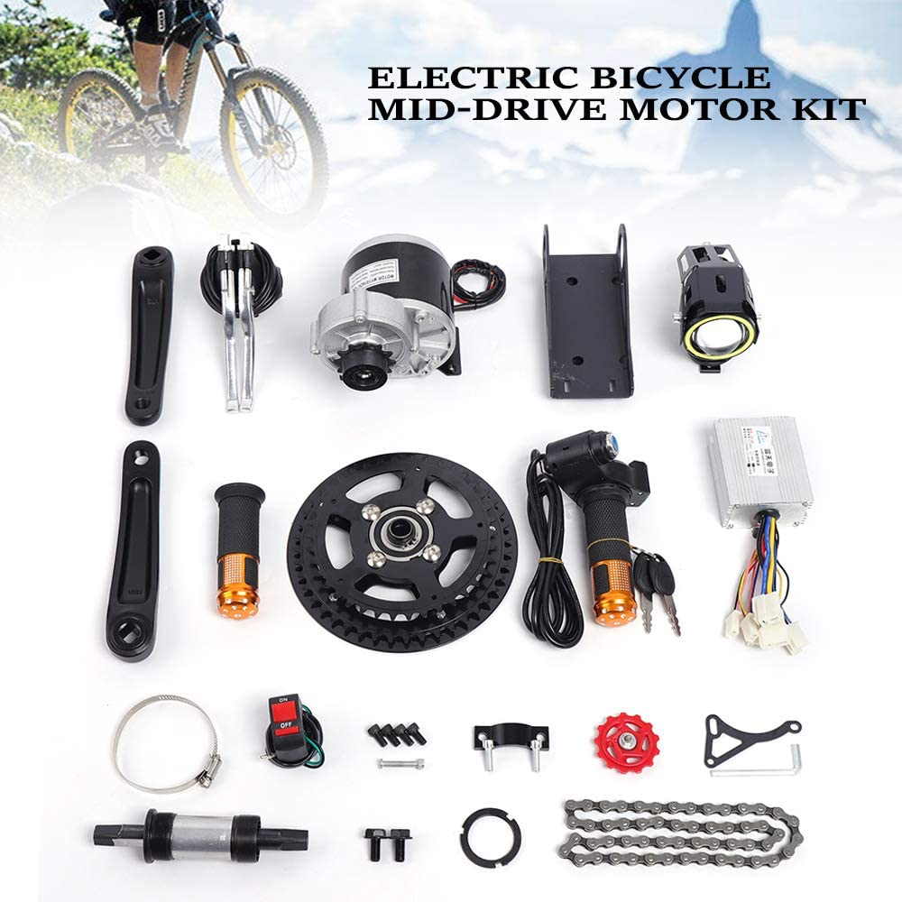Vbestlife 24V-48V 250W//350W Brush Speed Motor Controller with Waterproof LCD Display Panel for E-Bike Electric Bike Bicycle Scooter Mountain Bike Brushless Controller Kit