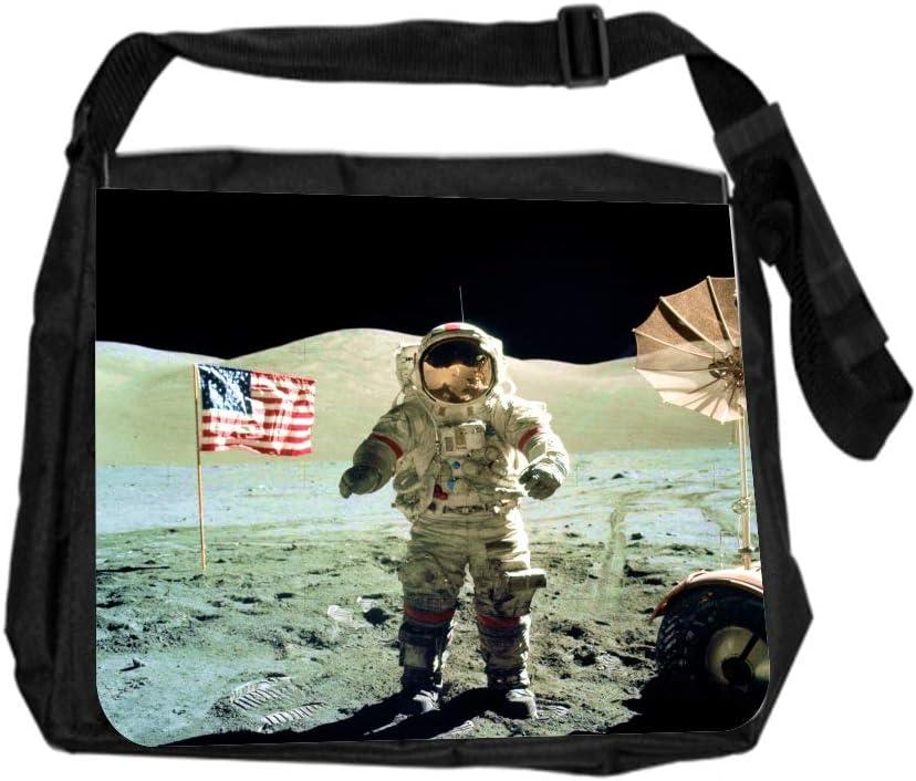 Galaxy Robot on Mars Cross Body Shoulder Messenger Laptop Bag