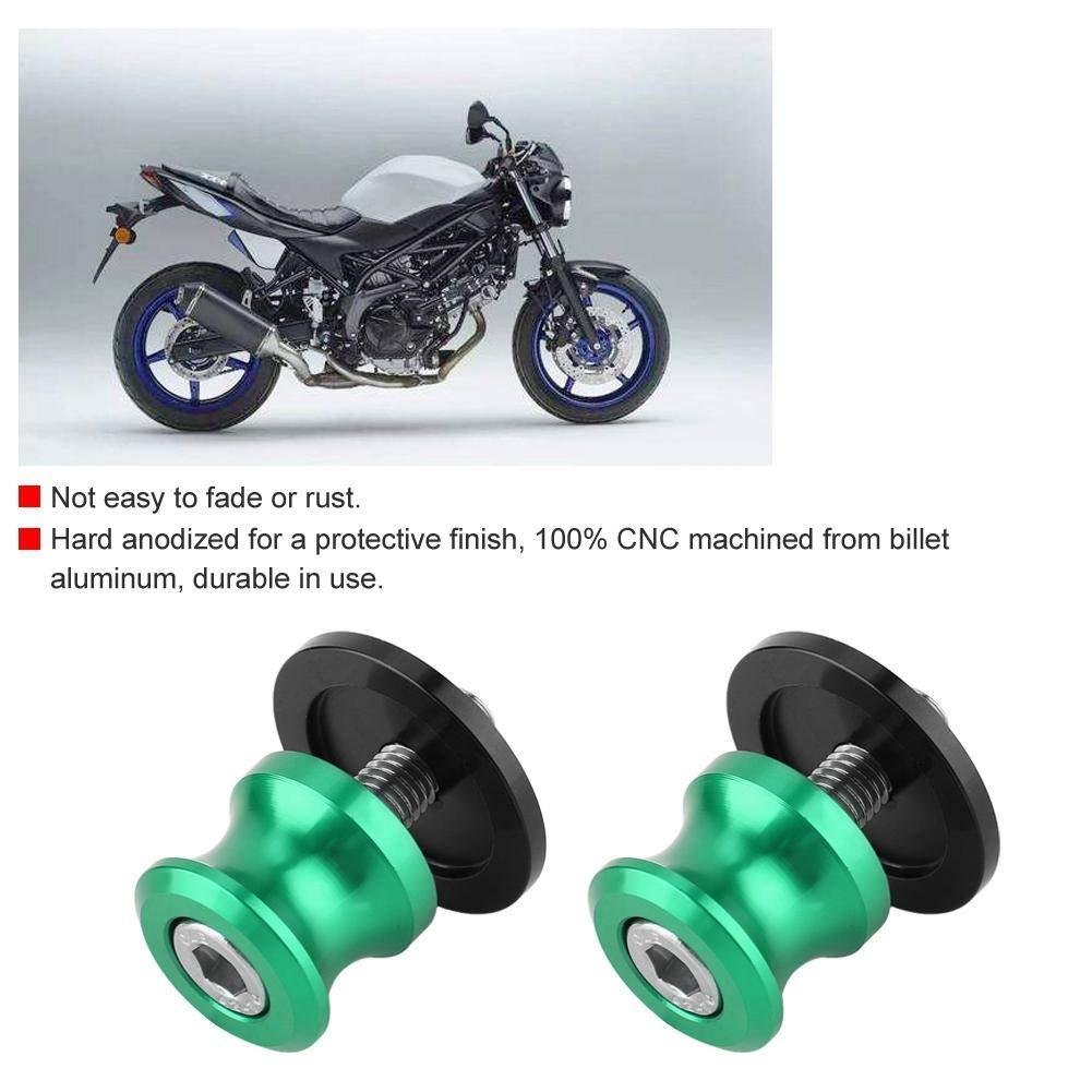 Silver Aramox Sliders Stand 2pcs 6mm Motorcycle CNC Rear Stand Swing Arm Spool Sliders Stand Swingarm Bobbins