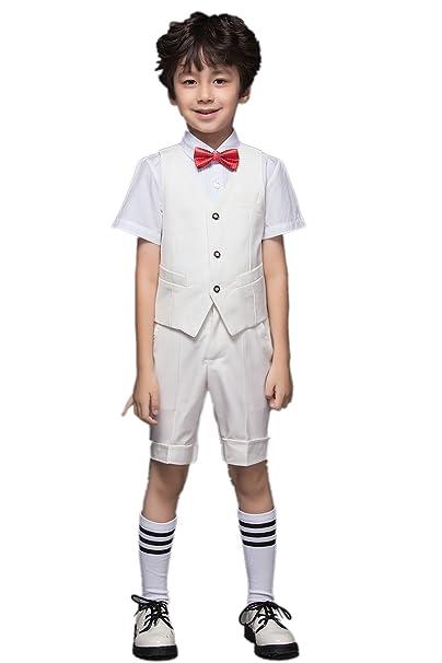 Yuanlu - Traje - para niño blanco blanco 10 Años: Amazon.es ...