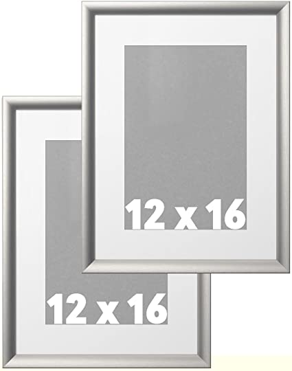 amazon com ikea wall picture frame silver metallic color 12 x 16
