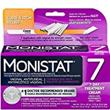Monistat 7 Feminine Cure & Itch Relief, #1 Doctor Recommended Brand, 7-Day Treatment Cream, Includes 7 Applicators with Original RX Strength Cream and 1 Tube of Itch Relief Cream