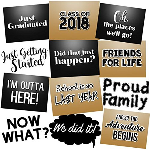ae214505339 Class of 2018 Funny Graduation Photo Booth Props Kit Party Signs - Set of  12