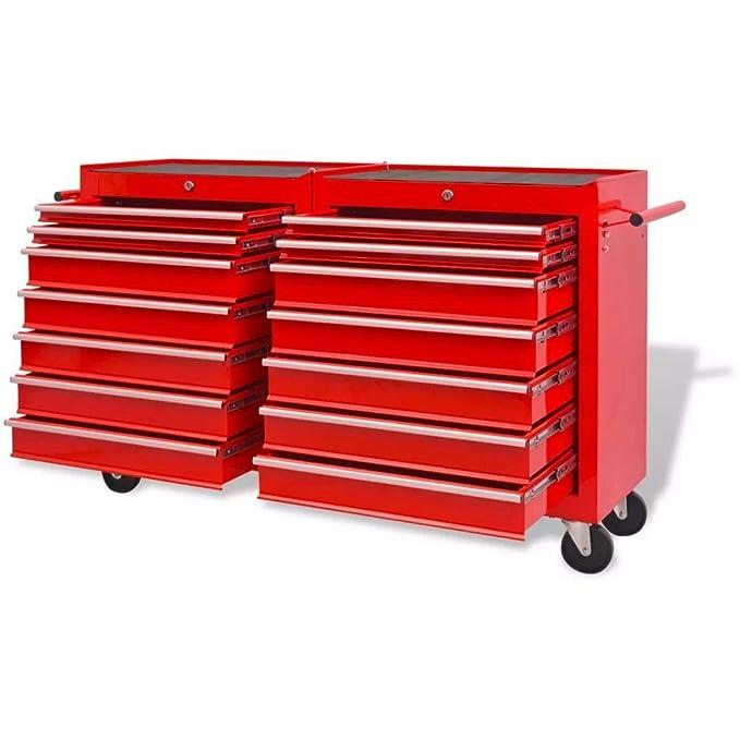 Genérico wers Rueda de Almacenamiento roja Resistente con cajones para Taller mecánico Rueda roja Heavy Du: Amazon.es: Electrónica