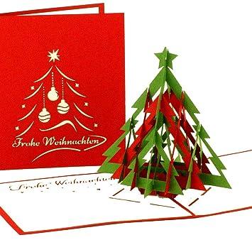 pop-up tarjeta de Navidad Árbol | Modern feliz navidad ...