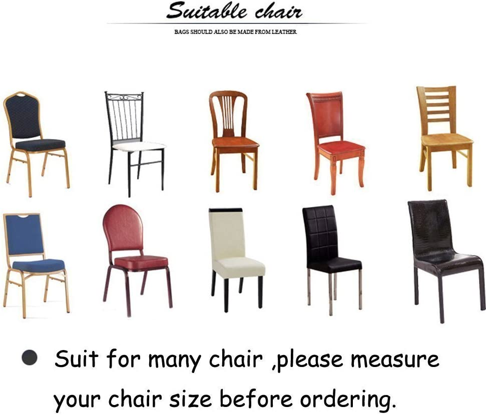 6 x Soft Spandex Fit Stretch Short Dining Room Chair Covers with Printed Pattern, Banquet Chair Seat Protector Slipcover for Hone Party Hotel Wedding Ceremony (A) E