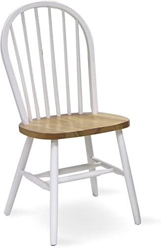 International Concepts 37-Inch High Spindle Back Chair, White Natural