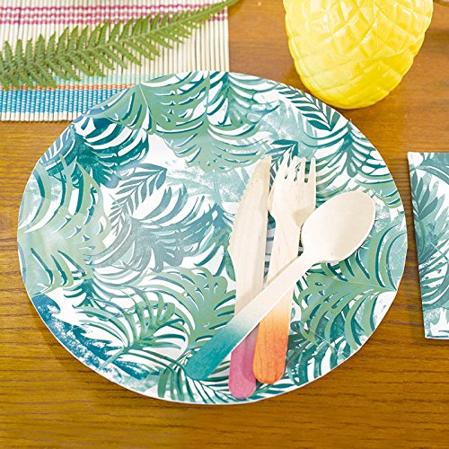 Use these tropical decor paper plates for dessert plates salad plates or small dinner plates.  sc 1 st  eBay & Luau Party Hawaiian Supplies Paper Plates Dessert 9