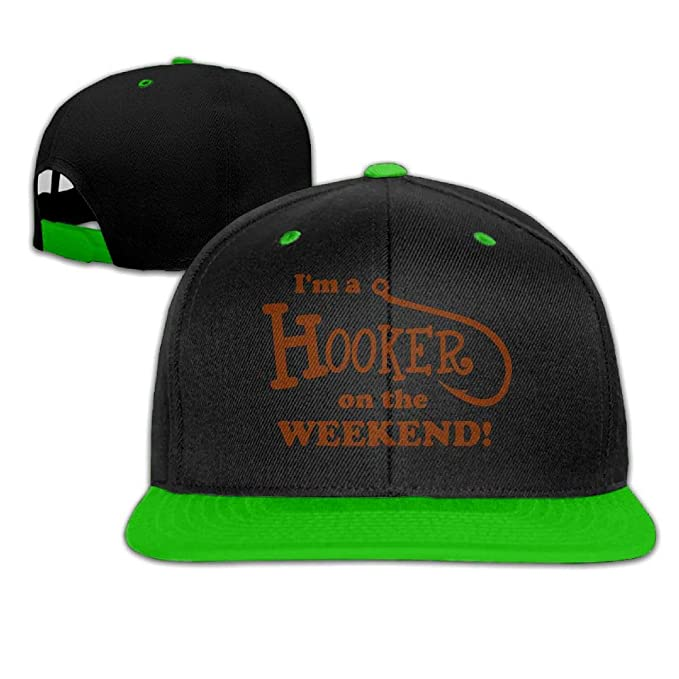 8c71195ced1b1 Women Mens I m A Hooker On The Weekend Adjustable Hip-Hop Caps Peaked Cap  at Amazon Men s Clothing store
