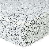 Silhoutte Jungle Print Cotton Crib Sheet