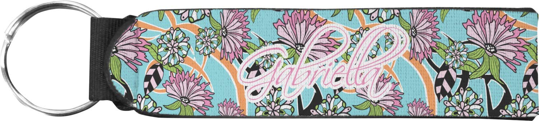 Summer Flowers Neoprene Keychain Fob (Personalized)