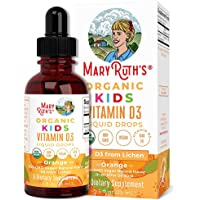 USDA Organic Vitamin D3 Liquid Drops for Kids by MaryRuth's   640 IU Vitamin D3 Per Serving   Kids Immune Support & Bone…