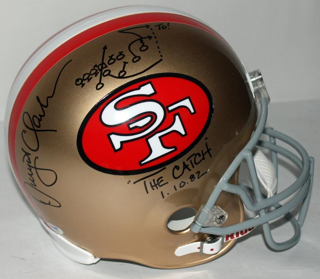 Amazon.com: 49Ers Dwight Clark 'The Catch' Signed F/S Rep Helmet With Hand  Drawn Play PSA/DNA: Sports Collectibles