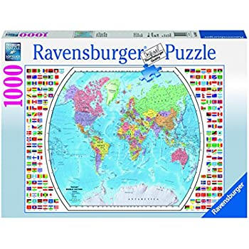 Amazon satellite world map augmented reality jigsaw puzzle ravensburger political world map jigsaw puzzle 1000 piece gumiabroncs Image collections