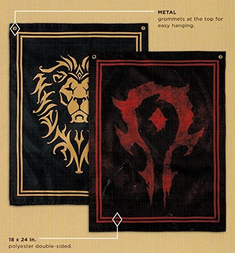 Warcraft Horde/Alliance Double-Sided Flag Loot Crate Gaming May 2016 Exclusive (Horde Flag)