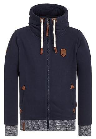 Naketano Men's Zipped Jacket Muzzy Spitzbubi Dark Blue, ...