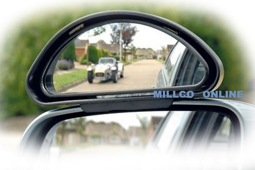 6 ' NERO ANGOLO CIECO Specchietto fissaggio facile - AUTO FURGONE Roadster car accessories 841177c