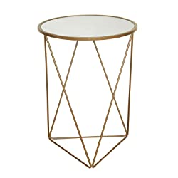 HomePop K7243 Metal Accent Table